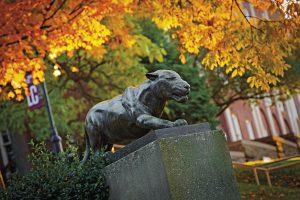 Lafayette leopard statue