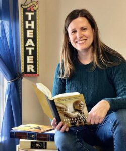 Prof. Mary Jo Lodge with her new book Dueling Grounds